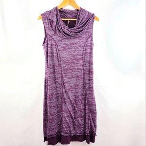 Prana Tyda cowl neck plum dress